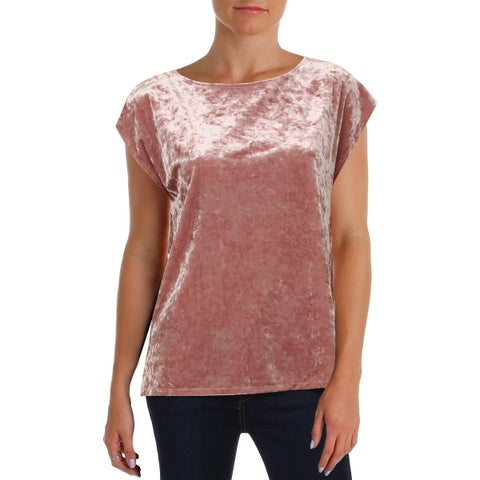 Vince Camuto Womens Petites Pullover Top Knit Extended Shoulder