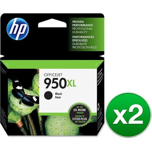 HP 950XL High Yield Black Original Ink Cartridge (CN045AN)(2-Pack)
