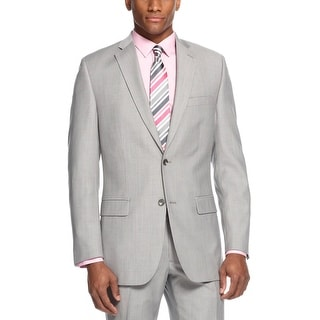 Alfani Slim Fit Mens Gray Stripe Sportcoat Suit-Separates 2-Buttons