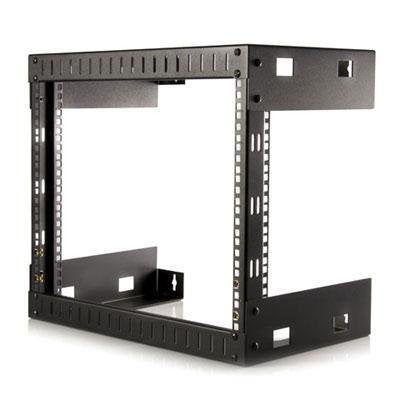 "Startech Rk812walloa 8U 22"" Depth Hinged Open Frame Wall Mount Server Rack"