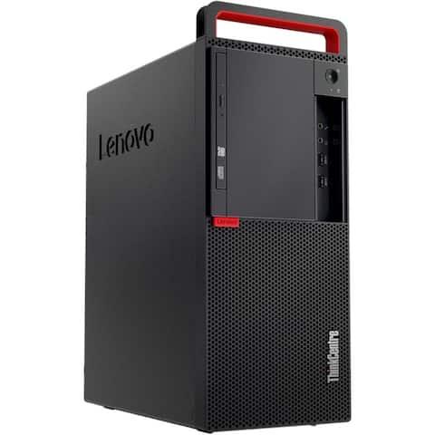 Lenovo ThinkCentre M910 Tower 16GB 512GB SSD Intel Core i5-7600 Win10,Black(Certified Refurbished)