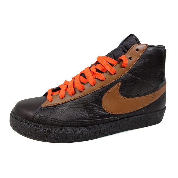 Nike Men's Blazer Hi Premium Tar/Light British Tan-Team Orange-Blue 312457-021