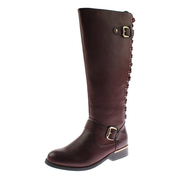 Wanted Womens Lounge Riding Boots Faux Leather Lace Up - 6.5 medium (b,m)