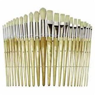 Chenille Kraft Company Wood Brushes- Natural Hog Bristles- 12