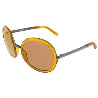 Diesel DL0069/S 42G Translucent Orange Round sunglasses