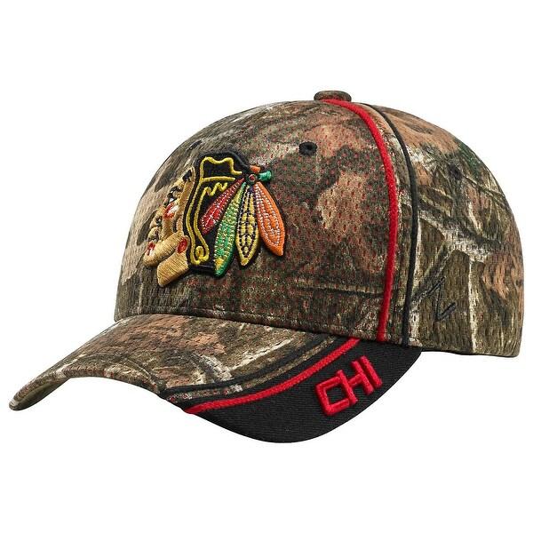 Legendary Whitetails Chicago Blackhawks Mossy Oak Camo NHL Slash Cap - Chicago Blackhawks