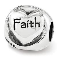 Sterling Silver Reflections Faith Hope Love Trilogy Bead (4mm Diameter Hole)