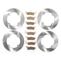 12-2013 Can-Am Renegade XXC 800R Front & Rear MudRat Brake Rotors & Brake Pads