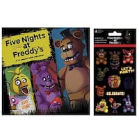 Five Nights at Freddy's 2018 Wall Calendar and Stickers Bundle - Multi