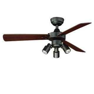 "Vaxcel Lighting F0020 Cyrus 42"" 3 Blade Indoor Ceiling Fan - Light Kit and Blades Included"