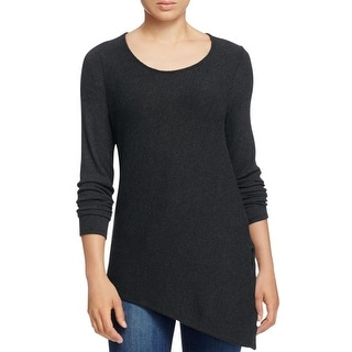 Red Haute Womens Pullover Sweater Ribbed Knit Lace-Up