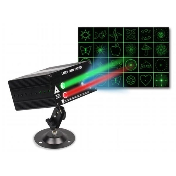 Professional DJ Pattern RG Laser Light with Blue LED, 45.7 x