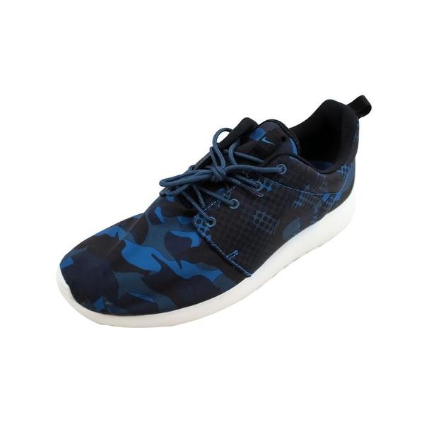 f730d170f7c Shop Nike Men s Roshe One Print Brigade Blue Black-Squadron Blue ...