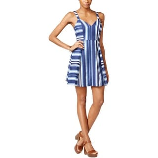 BCBGeneration Womens Casual Dress Striped Sleeveless
