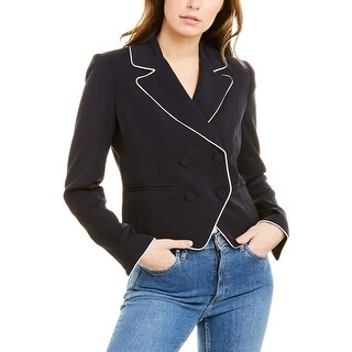 Link to Frame Denim Piped Cropped Blazer Similar Items in Suits & Suit Separates