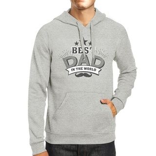 Best Dad In The World Unisex Grey Hoodie Christmas Gifts For Dad
