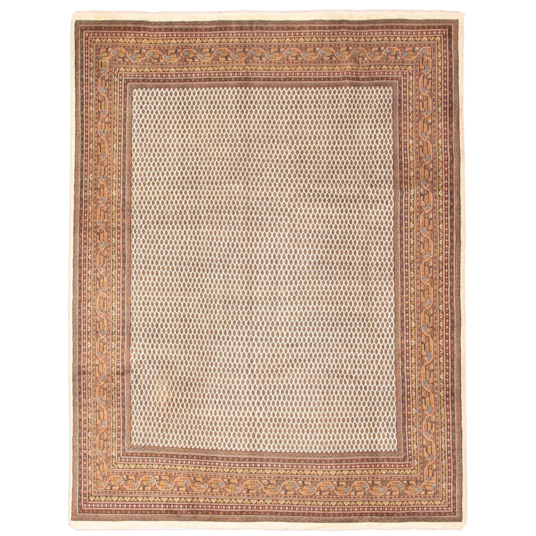 Ecarpetgallery Hand Knotted Royal Sarough Cream Wool Rug 9 10 X 12 8 Overstock 32503533