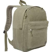 Classic Laptop Canvas Backpack - Olive