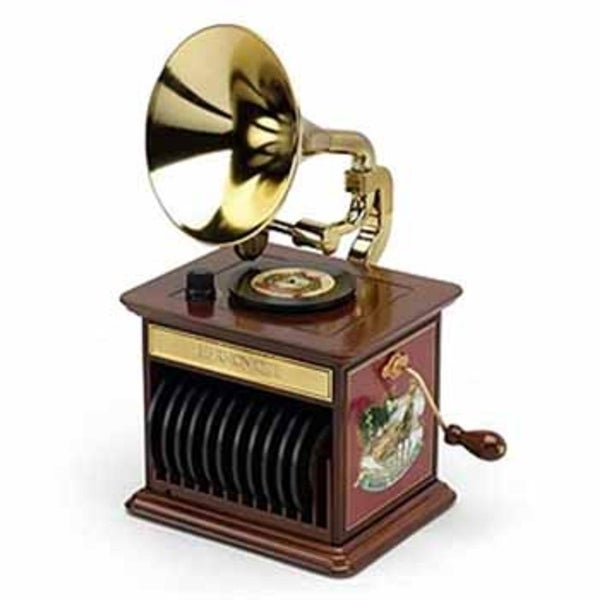 Mr. Christmas Animated and Musical Harmonique Gramophone Decoration #23672