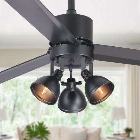 """50-in Indoor 3-Blade Ceiling Fan with Remote - 50"""""""