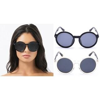 PRIVÉ REVAUX The Boss Handcrafted Designer Polarized Round Sunglasses For Women & Men