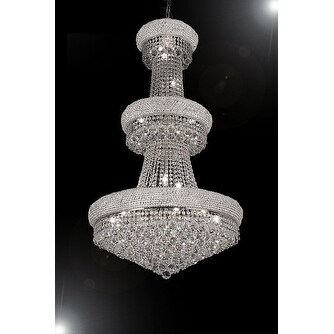 French Empire Crystal Chandelier Lighting H50 x W30 Perfect for Entryway/Foyer