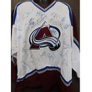 Signed Avalanche Colorado 200304 Replica Colorado Avalanche Jersey Size XL by the 200304 Team Inclu