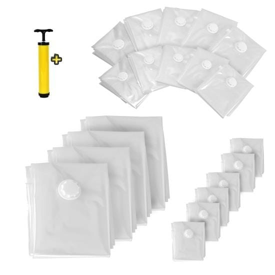 Vacuum Storage Bags - Air Tight Space Saver Bag Bundle (20 Bags)