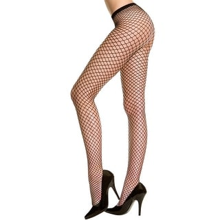 Plus Size Seamless Diamond Net Pantyhose, Plus Size Fishnets
