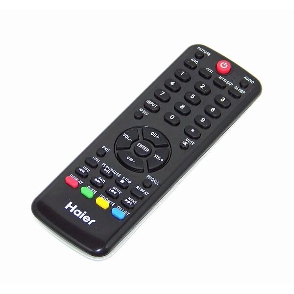 OEM Haier Remote Control Originally Shipped With: LE46B1381C, L32F1120, L32F1120A, HL22XLT2, HL22XLT2A, HL19K1