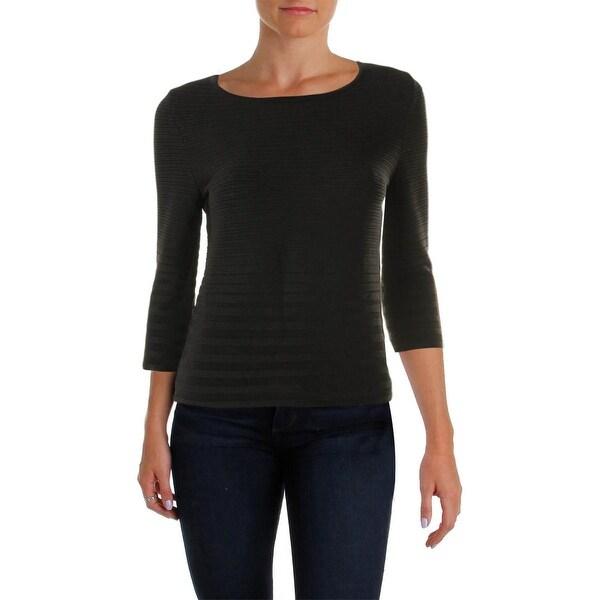 Calvin Klein Womens Sweater Textured Jewel Neck