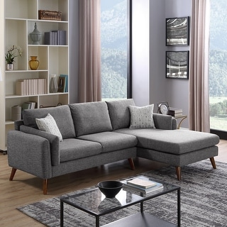 Link to Founders Mid-century Modern Right Facing Sectional Sofa Chaise Similar Items in Living Room Furniture