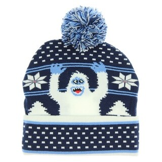 Rudolph The Red-Nosed Reindeer Mens' Bumble The Abominable Snowmonster Pom Beanie