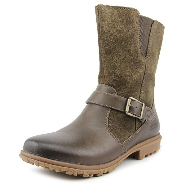 Bogs W Bobby Mid   Round Toe Leather  Boot