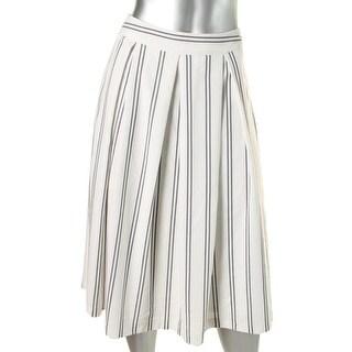 JOA Womens Pleated Printed A-Line Skirt - M