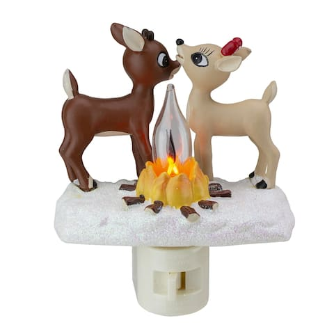 """5"""" Rudolph and Clarice by Fire Christmas Nightlight"""