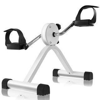 Gymax Portable Pedal Exerciser Adjustable Resistance Arms Legs Rehabilitation - White