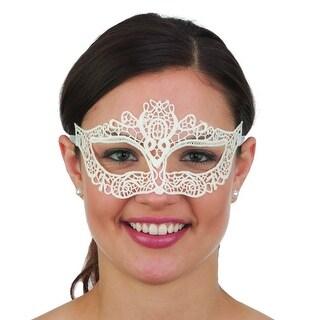 Ivory White Lace Mask
