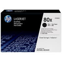 HP 80X Black Original LaserJet Toner Dual Cartridge (CF280XD)(Single Pack)