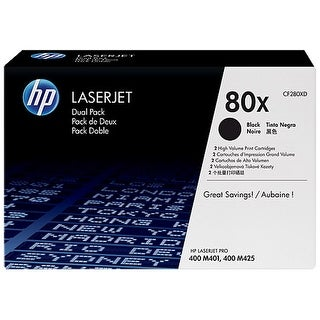 Hewlett Packard CF280XD HP 80X (CF280XD) 2-pack High Yield Black Original LaserJ