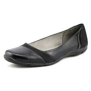 Life Stride Daydream Women Round Toe Synthetic Black Ballet Flats