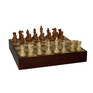 Sheesham American Emperor Chess Set With Walnut Chest - Brown