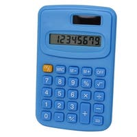 Unique Bargains LCD Display Small Pocket Electronic Calculator Light Blue
