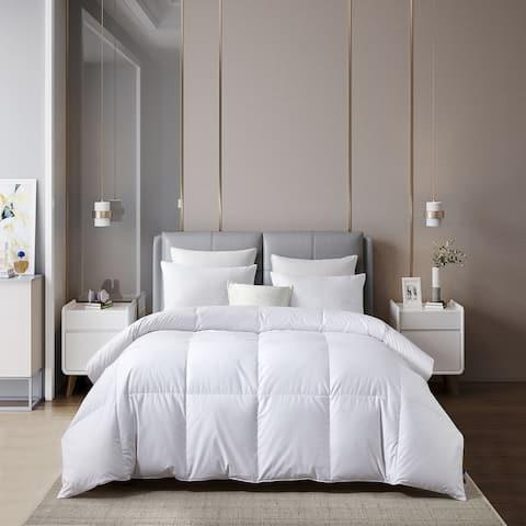 Serta 400 Thread Count European White Goose Down Comforter