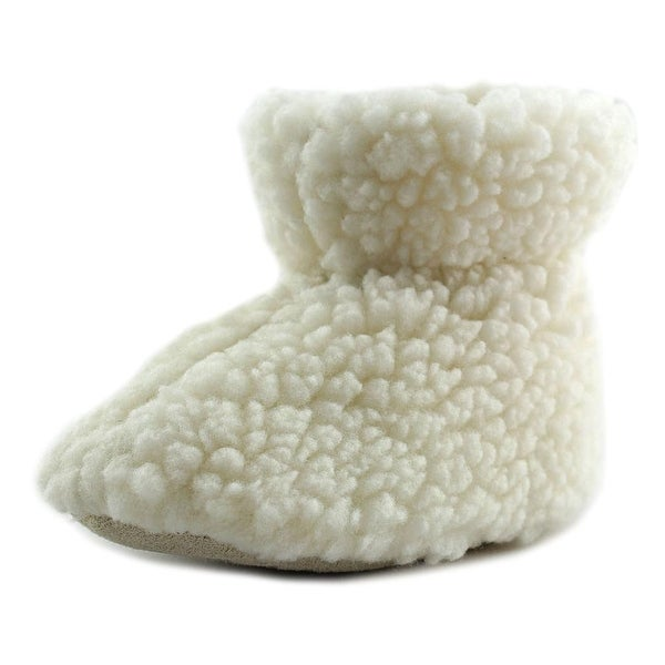 Acorn Tex Easy Boo Infant  Round Toe Canvas White Slipper