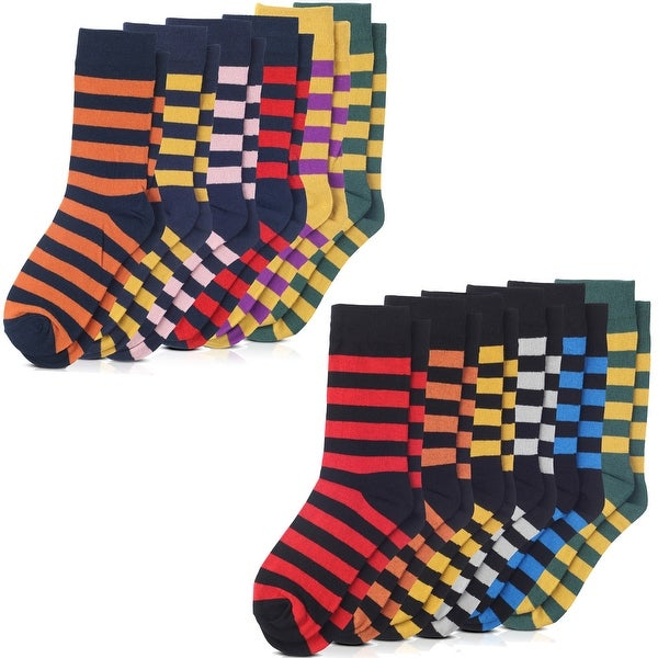 Variety Jacob Alexander College Stripe Dress Socks 6-pack