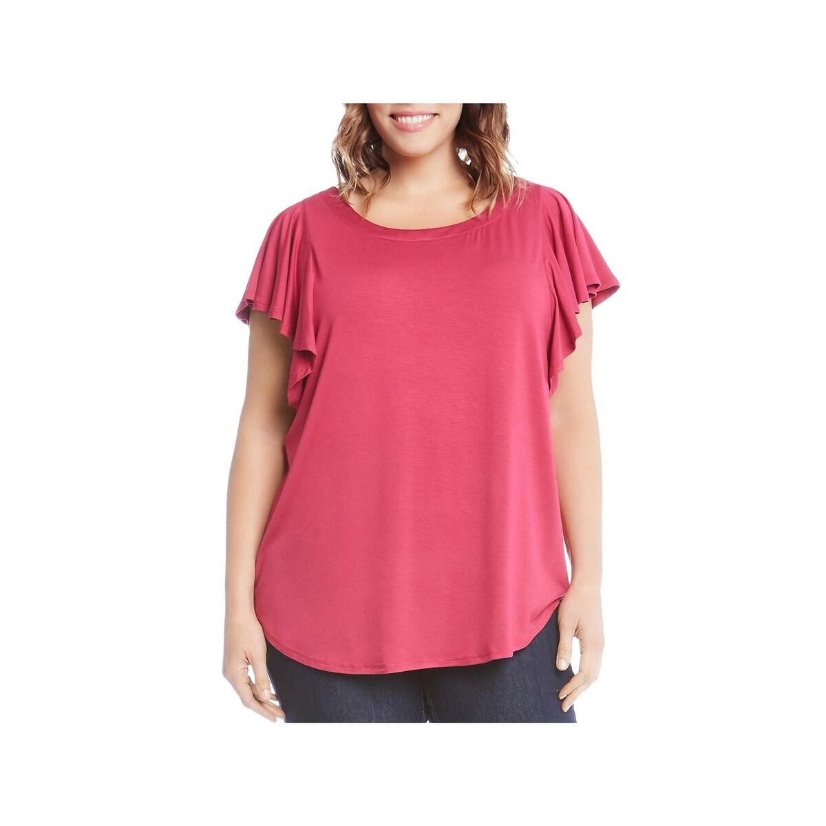 Espresso Women Plus Size 2x 3x Hi Lo Black Yellow Check Tee Shirt Top Blouse