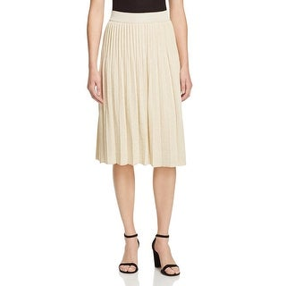 M Missoni Womens Gonna Pleated Skirt Metallic Comfort Waist
