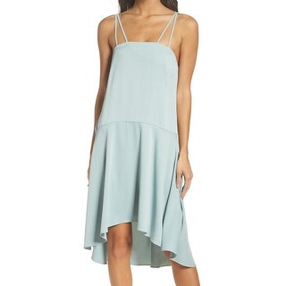 BB Dakota Mint Green Womens Size Large L Hi-Low Sheath Dress