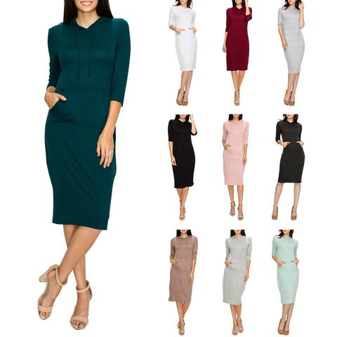Women's Hoodie Pocket Dress